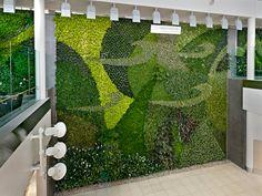 Un muro verde para el aeropuerto de Edmonton  Esta pared vegetal está formada por 8.000 plantas de 32 especies diferentes.