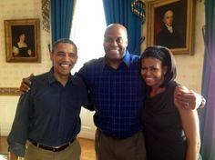 ٠•●●♥♥❤ஜ۩۞۩ஜஜ۩۞۩ஜ❤♥♥●   President Obama, Craig Robinson, First Lady Michelle Obama  ٠•●●♥♥❤ஜ۩۞۩ஜஜ۩۞۩ஜ❤♥♥●