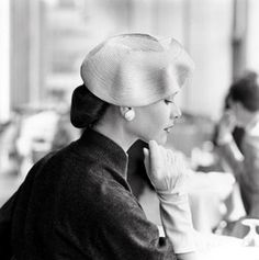The beautiful Jean Quick, 1957 #vintage #hat