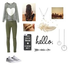 """""""hi"""" by jamwich ❤ liked on Polyvore featuring J Brand, Converse, Kenneth Cole, Retrò, women's clothing, women's fashion, women, female, woman and misses"""