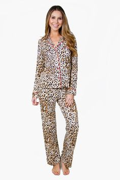 81e020e0ff4 PJ Salvage Leopard Nights Pajama Set