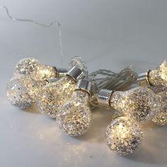 Guirlande 8 ampoules paillette - 3.5 m Blanc chaud - Popsy - Les guirlandes d'extérieur - Eclairage d'extérieur - Luminaires - Décoration d'intérieur - Alinéa