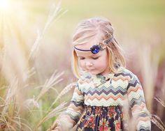 Mae- Fall Fabric Flowers Headband. $4,95, via Etsy.