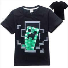 Top Summer Short Sleeve MineCraft T shirts for Years Boys Clothes haut enfant fille Kids Shirts Girls t shirts Boys Tops Minecraft Outfits, Minecraft Clothes, Baby Boy Outfits, Outfits For Teens, Shirts For Girls, Kids Shirts, Minecraft Halloween Costume, Cartoon Outfits, Summer Boy