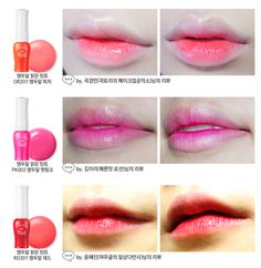 Etude house Fresh Cherry lip tint south korea makeup cosmetics for the gradient lip trend! Kawaii Makeup, Cute Makeup, Beauty Makeup, Etude House Lip Tint, Korean Lip Tint, Korean Lips, Tint Lipstick, Lipsticks, Nails