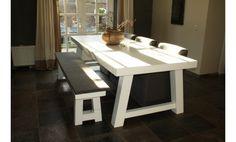10x witte houten eettafels
