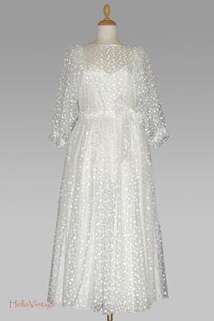 60er Vintage wedding dress Polka Dots