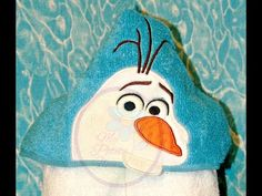 Silly Snowman hooded towel tutorial - YouTube
