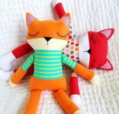Fox Softie Sewing Pattern  Sleepy Soft Fleece от preciouspatterns