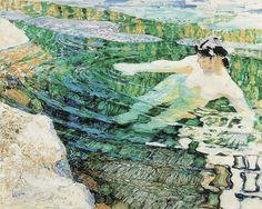 František Kupka, 1906-9, Water, The bather.