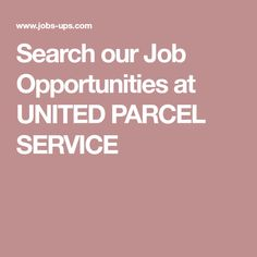Package Handler  PartTime At United Parcel Service  Ed Job