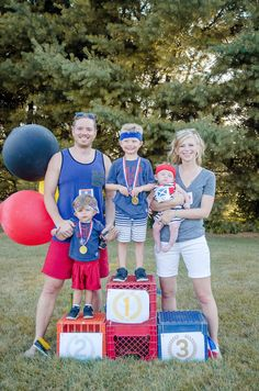 Awards stand from Olympics Inspired Birthday Party at Kara's Party Ideas. See…