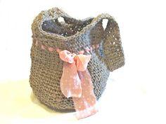 Jute tote Hobo Bag  Jute Rope Crochet Bag  Large Market by Spondeo