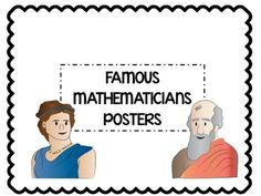Famous Mathematician Posters - great decorations for the math classroom