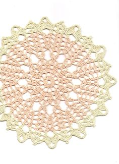 Christmas gift, Crochet doily, lace doilies, table decoration, crocheted doilies, centre piece, hand made, table runner, napkin, peach