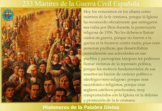 MISIONEROS DE LA PALABRA DIVINA: SANTORAL - 233 MÁRTIRES DE LA GUERRA CIVIL ESPAÑOL...