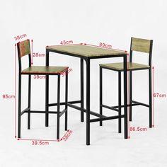 SoBuy Bar Table and 2 Stools Restaurant Kitchen Furniture Dining Set, OGT03 #Bar #dining #furniture #kitchen #OGT03 #restaurant #Set #sobuy #stools #table