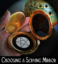 Choosing a Black Scrying Mirror for Divination. Ideas on how to select and care for your mirror as well as the differences between obsidian and glass mirrors.