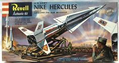 Vintage Revell Model Kits | ... 40 Nike Hercules Missile - 'S' Kit Issue, H1804-149 plastic model kit