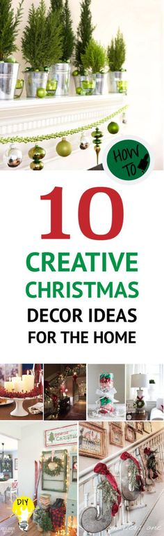 Make this Christmas different.  Try these 10 Creative Christmas Decor Ideas For The Home!