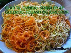Paleo krydrede ovnbagte grønsags-spiraler