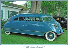 1936 Stout Scarab. Well at least the driver was safe. NOT.