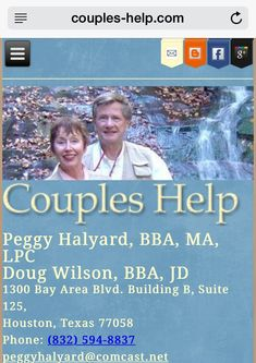 Photo of Peggy Halyard, BBA MA LPC - Couples Help - Houston, TX, United States. Home page www.couples-help.com Counseling, My Photos, Marriage, Relationship, Community, Houston Tx, Couples, United States, Life