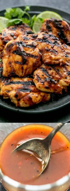 This Grilled Chili Lime Chicken from The Recipe Critic is made with tender and juicy grilled chicken with the best ever chili lime marinade! Serve it up with a fresh side salad or your favorite grilled veggies! Best Grilled Chicken Marinade, Chicken Marinade Recipes, Grilling Recipes, Cooking Recipes, Healthy Recipes, Roast Chicken, Grilled Chicken Thighs Boneless, Marinades For Chicken, Mexican Chicken Marinade