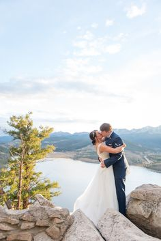 Elopement at Sapphire Point in Dillon, Colorado! Rocky mountain wedding!