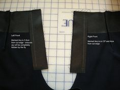 Faced Fly Front Zipper Tutorial when there is no waistband -  by sewingkay, via Flickr