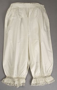 Underpants (Drawers)  Date: 1880s Culture: American (probably) Medium: cotton