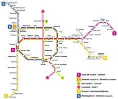 Plano de metro de Bruselas