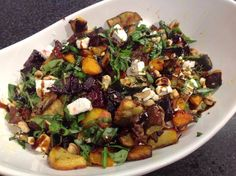 This is the roast vegetable  salad that I took to a pot luck dinner on Saturday. I shared the photo on my Facebook page and it got a fair few thumbs up, as well as requests for the recipe. No worries - here you go!  Typing this recipe out, I realised I've never never made this the same ...