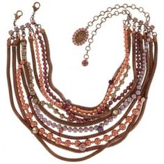 Konplott Halskette Chameleon copper brown/pink