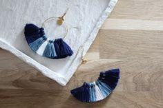 Boucles d'oreille SUNNY Bleu