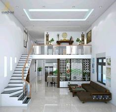 Home Stairs Design, Small House Interior Design, Home Building Design, Bungalow House Design, House Front Design, Home Room Design, Loft Design, Tiny House Design, Modern House Design