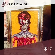 Zombie Bowie decor punk 80s style Framed Accessories