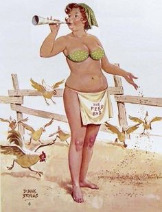 vintage everyday: 50 Sexy Vintage Illustrations of Hilda, The Forgotten Plus-Size Pinup Girl of the 1950s
