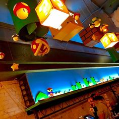 What's better than a regular bar? A Mario bar! In Washington, DC, there's a pop up Mario-themed bar that'll warp you into the Mushroom Kingdom. Halloween Cubicle, Super Mario Brothers, Pipe Dream, Bar, Washington Dc, Game Room, Pop Up, Childhood, Basement