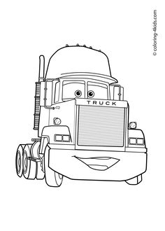 Truck From Cars Transportation Coloring Page
