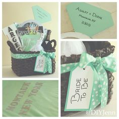 DIY Wedding Engagement Basket by @DIY Jenn http://pinterest.com/diyjenn/  #Wedding #Engagement #Bride