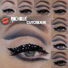 Rockowa kreska lub cutcrease Cutcrease Tutorial, Eyeliner, Make Up, Beautiful, Eye Liner, Makeup, Beauty Makeup, Eyeliner Pencil, Bronzer Makeup
