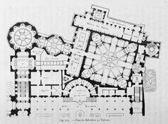 Vatican Museum Floor Plan Elegant Floor Plan Of the Belvedere Vatican City Plans Architecture Baroque, Renaissance Architecture, Classic Architecture, Islamic Architecture, Architecture Drawings, Historical Architecture, Architecture Plan, Architecture Details, Museum Plan