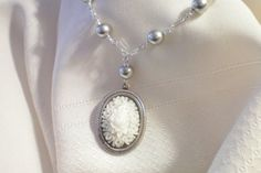 HEAVEN  FLORAL CABOCHON AND SWAROVSKI PEARLS by Yourstocherish, $30.00