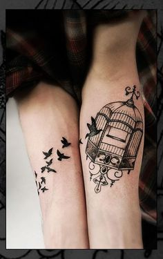 d9af04368 like the cage design, plus detail in first bird Cage Tattoos, Tattoos  Motive,