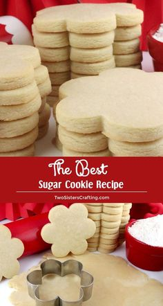 The Best Sugar Cookies Recipe The Best Sugar Cookie Recipe – easy to make, soft, delicious and keeps the shape of the cookie cutter every single time. You family will beg you to make these yummy homemade Sugar Cookies again… Continue Reading → Homemade Sugar Cookies, Sugar Cookie Recipe Easy, Best Sugar Cookies, Easy Cookie Recipes, Yummy Cookies, Dessert Recipes, Best Sugar Cookie Recipe For Decorating, Simple Sugar Cookies, Cookie Cutter Recipes
