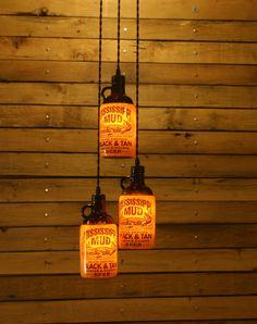 The Ultimate Beer Bottle Pendant Light - Bar Light - Bar Room Light Fixture. $54.00, via Etsy.