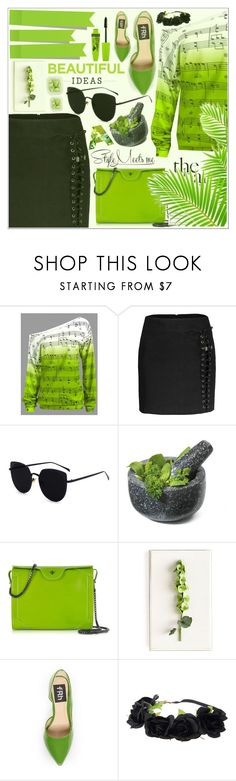 """""""Green Paradise 💚"""" by av-anul ❤ liked on Polyvore featuring Fresco Towels, Carven, Tommy Mitchell, Fahrenheit and Rimmel"""