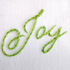 Embroidering letters and text make a great personalized gift, and the stem stitch and split stitch are two embroidery stitches that are perfect for this. Diy Embroidery Letters, How To Embroider Letters, Embroidery Stitches Tutorial, Learn Embroidery, Hand Embroidery Designs, Embroidery Techniques, Embroidery Applique, Cross Stitch Embroidery, Embroidery Patterns