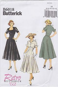 Butterick 6018- This is a current pattern